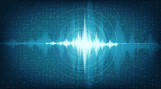 ハイテクデジタル音波低と高さの背景