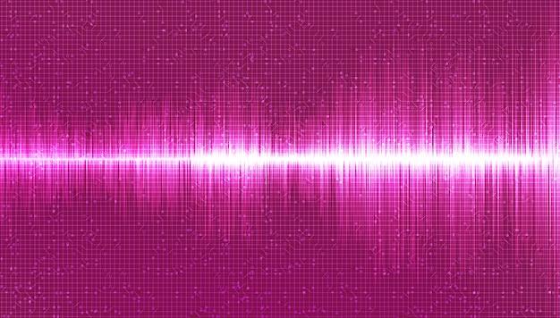 ピンクのデジタルサウンドウェーブの背景