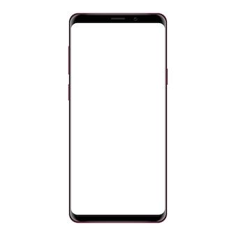 白い背景に描かれたベクトル描画モックアップ電話