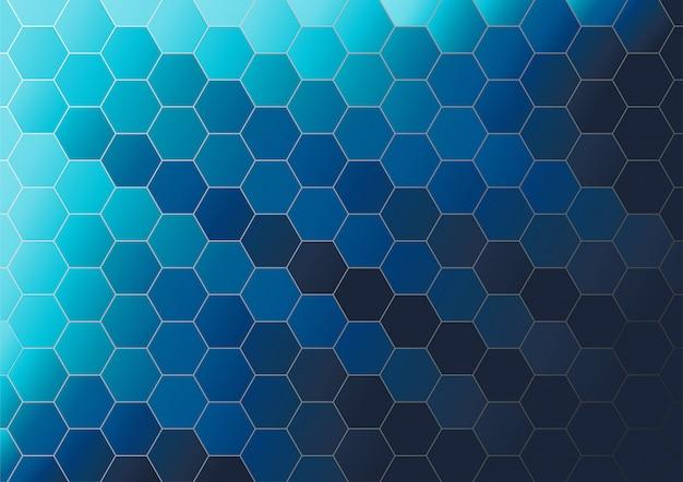抽象的な六角形の背景のベクトル。イラストレーターのベクトル。