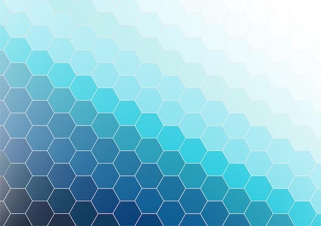 六角形の抽象的な背景の