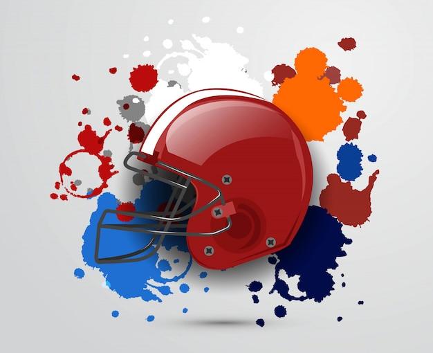 アメリカンフットボールのベクトルのデザイン
