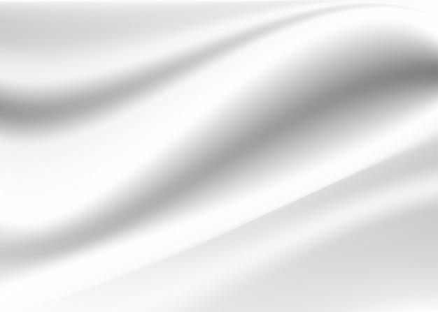 白と灰色の抽象的な背景。サテンの高級布のテクスチャ