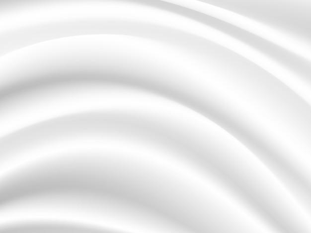 Волна белой шелковой ткани, перекрывающая свет и тень.