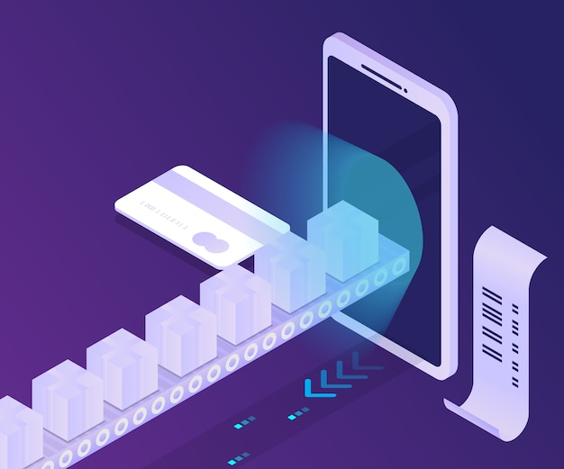 Онлайн-платеж покупки и доставка со смартфона