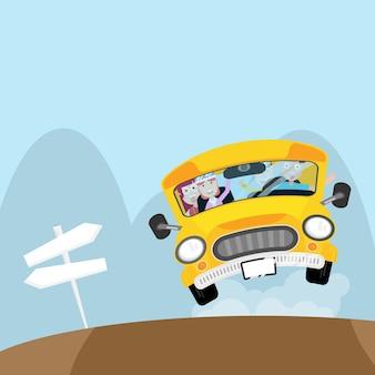 バスに乗っている人は休日に旅行に行く