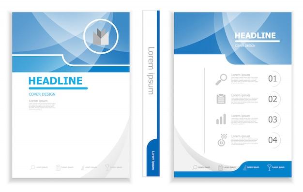 現代のビジネスパンフレットのデザインテンプレートのデザイン
