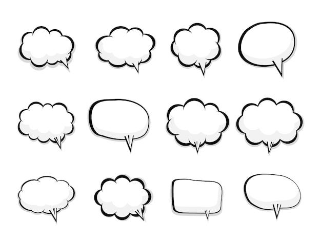 Набор пустых речи пузырь