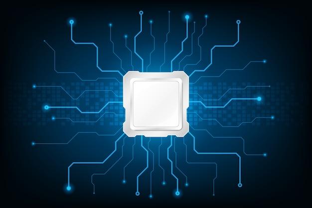 抽象的な未来的なハードウェア回路