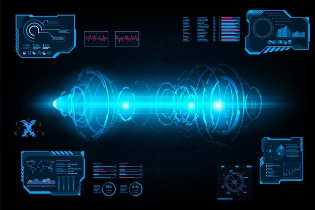 抽象的な未来的なシステムサークルトンネル