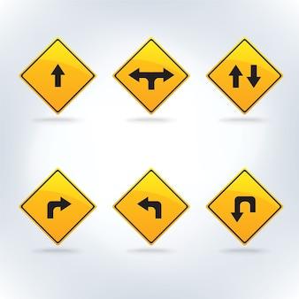 交通標識が設定されている