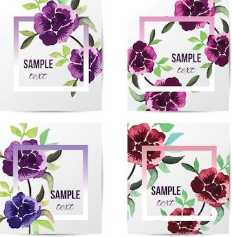 ヴィンテージ花の水彩カバー