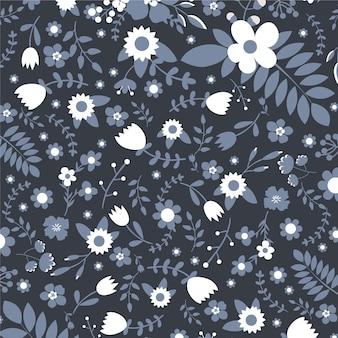 花のベクトルパターン