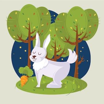 ウサギのベクトルイラストのウサギ