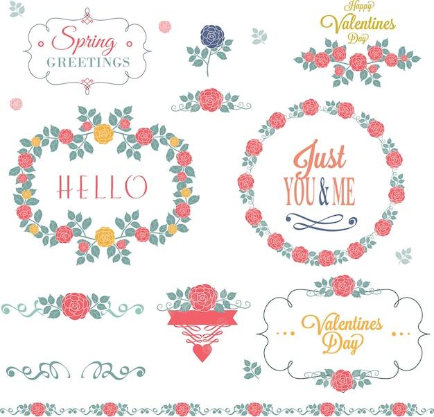 花の装飾セット