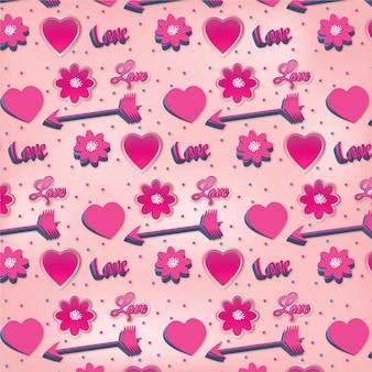 ロマンチックなピンクのパターン