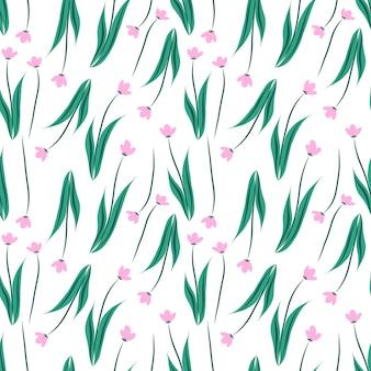花のシームレスなパターン背景。