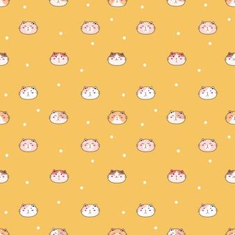 Симпатичный кот бесшовный фон