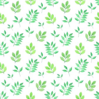 葉水彩シームレスパターン
