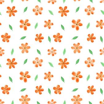 花の水彩画のシームレスなパターン背景