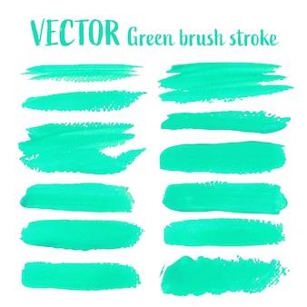 緑色のブラシストローク