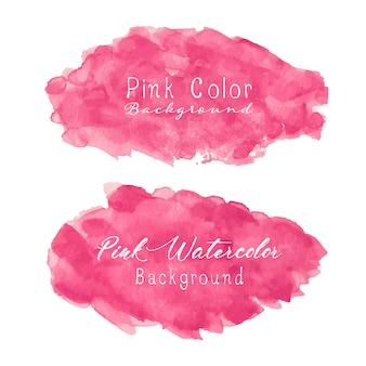 Розовый абстрактный фон акварелью.