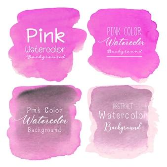 ピンクの抽象的な水彩画の背景。
