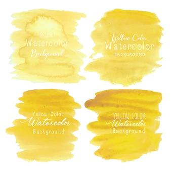 黄色の抽象的な水彩画の背景