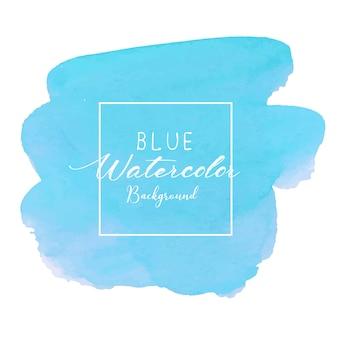 青の抽象的な水彩画の背景。カードの水彩画の要素。