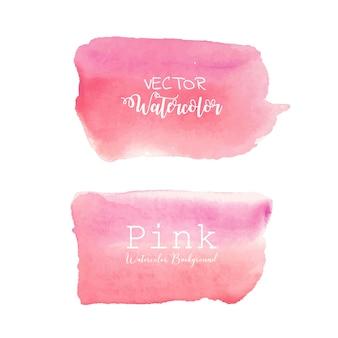 ピンクの水彩画の背景。