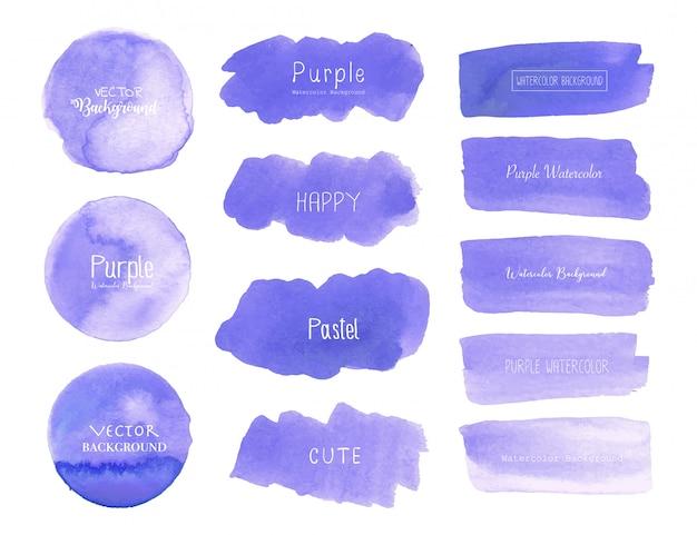 紫の水彩画の背景