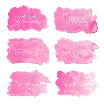 Розовый акварельный фон, пастельный акварельный логотип