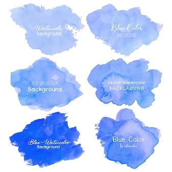青の抽象的な水彩画の背景。