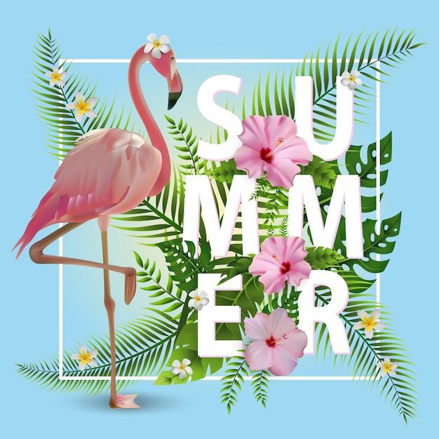 Модный летний тропический фон