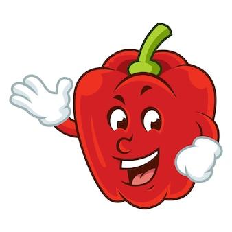 かわいい赤いパプリカ
