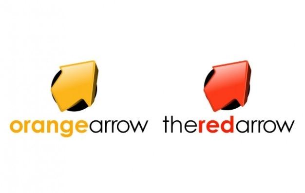 ロゴの色の矢印