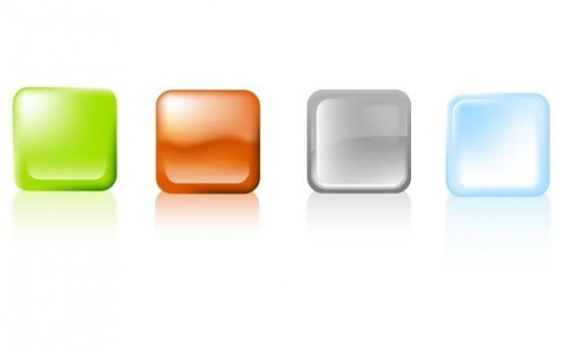 異なる色でベクトル正方形