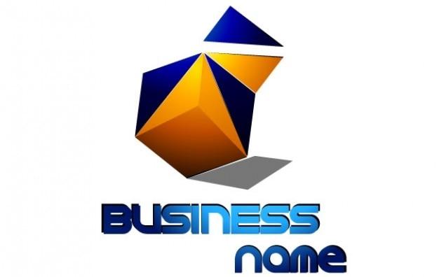 ロゴの正方形のビジネス名