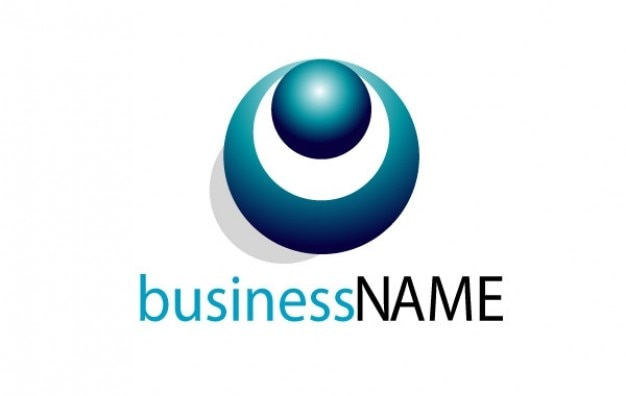 ロゴ青い眼のビジネス名