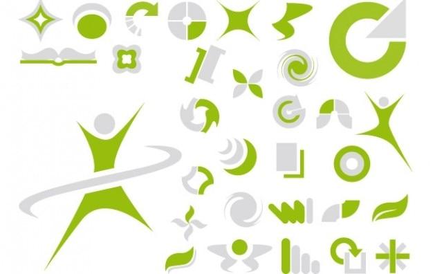 ベクトル緑色の抽象的なシンボル