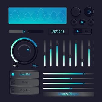Кнопка управления музыкой