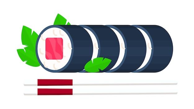 寿司ロール、隔離された、ベクトル、イラスト