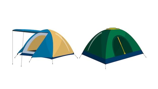 Палатки кемпинга изолированные векторные иллюстрации