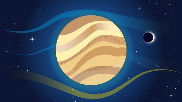 カラフルな惑星の背景がある空間