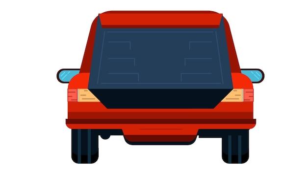 Автомобиль назад изолированных векторных иллюстраций