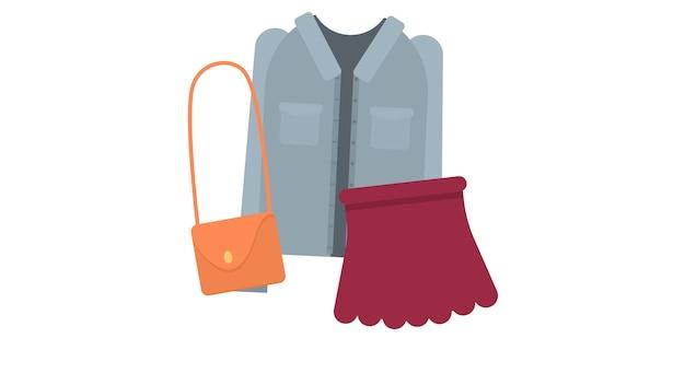 服を絶縁したベクトルイラスト