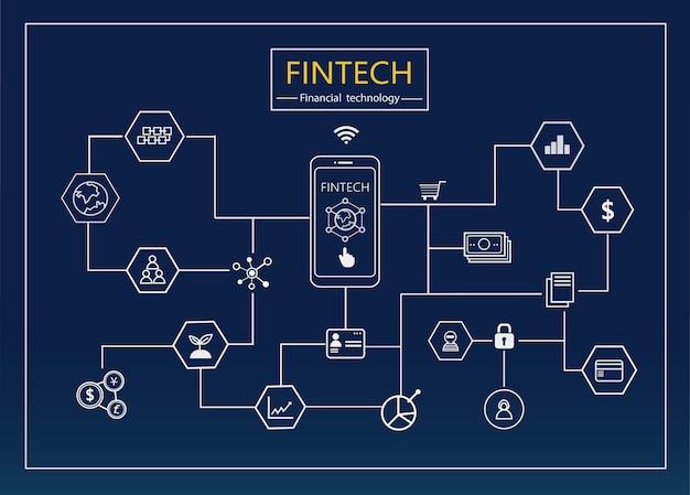 Финансовые технологии и блоксхемы на диаграмме