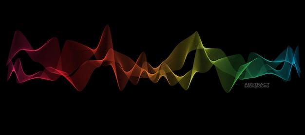 Абстрактная гладкая линия волны