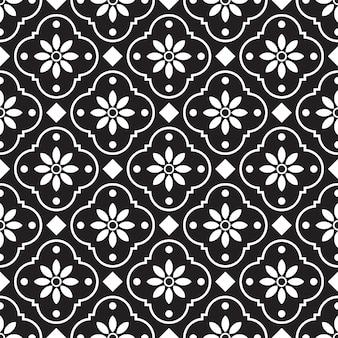 Бесшовный геометрический образец. черно-белый фон.