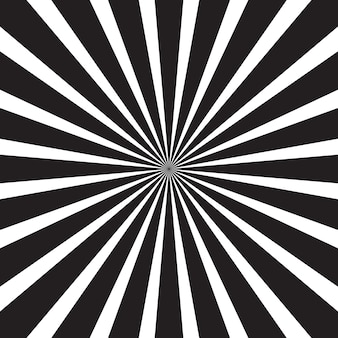 黒と白の抽象的なサンバースト
